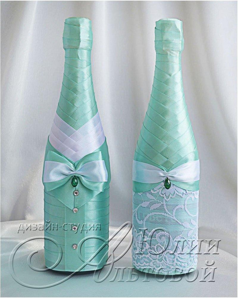 Как украсить шампанское лентой своими руками