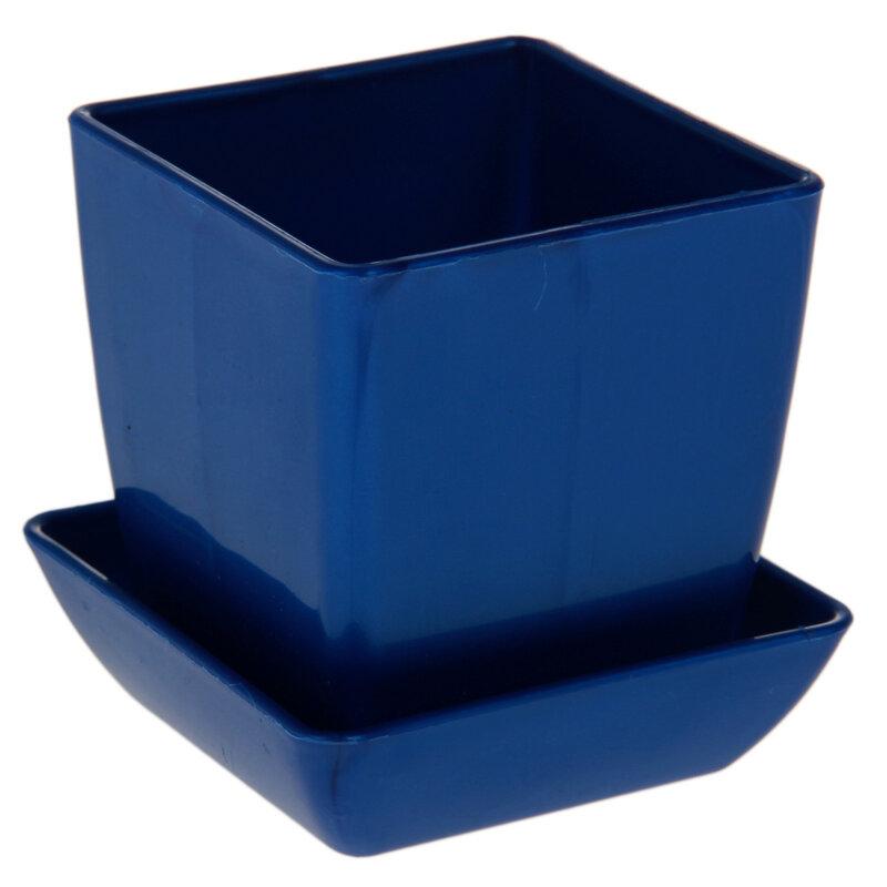 Горшки для цветов голубые