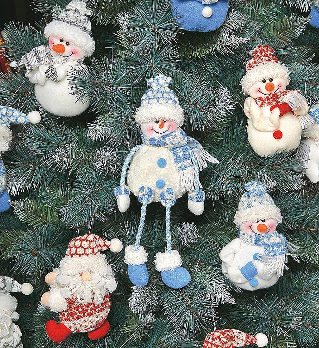 Новогодние игрушки из материала своими руками фото