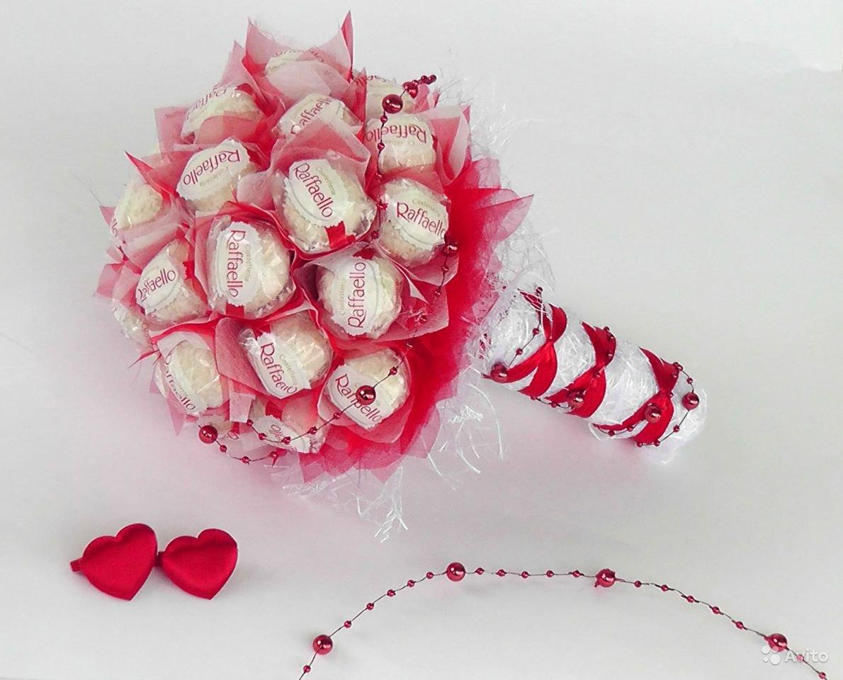 Букет из конфет Раффаэлло. Мастер-класс с пошаговыми фото 7