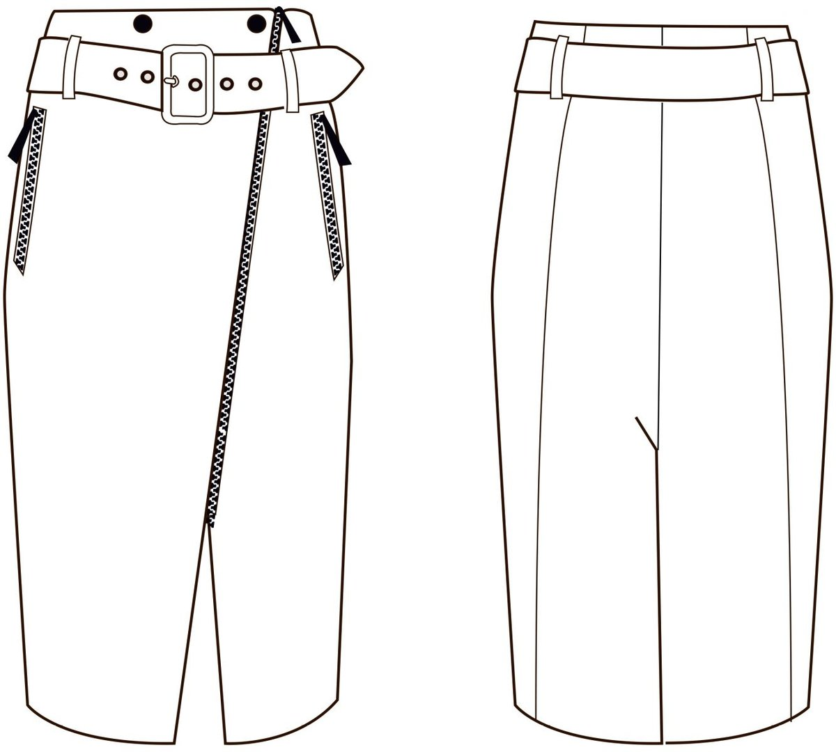 Как сшить юбку накладную 597