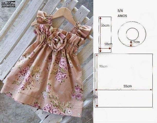 Платье сшить своими руками выкройки для девочки 3 года