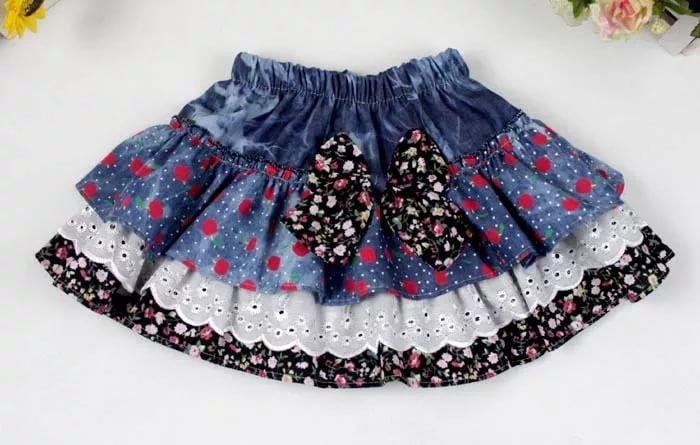 Сшить джинсовую юбку для девочки 2 года 92