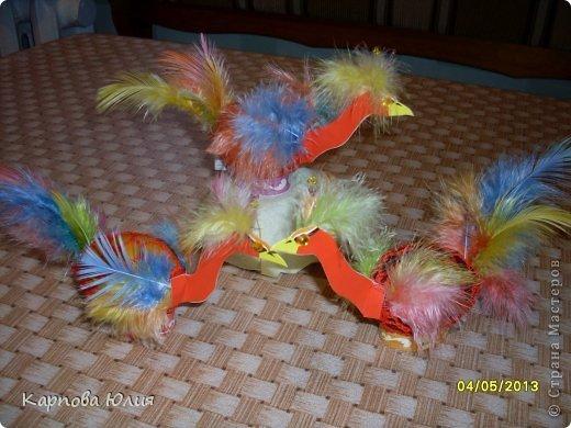 Декоративные птички из перьев своими руками 155