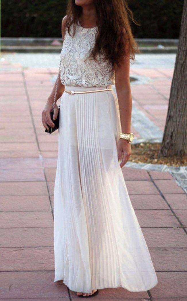Платье в пол легкое