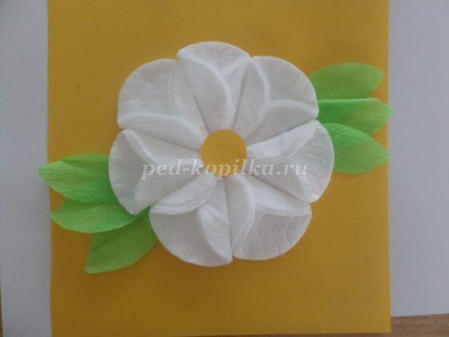 Цветы для мамы своими руками из ватных дисков 9