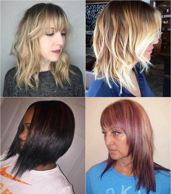 Стрижки на средние волосы каскад 2017-2018 женские