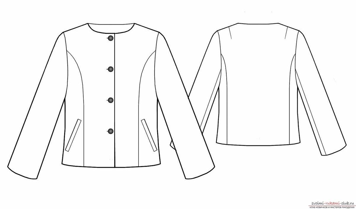 Выкройки курток без воротника