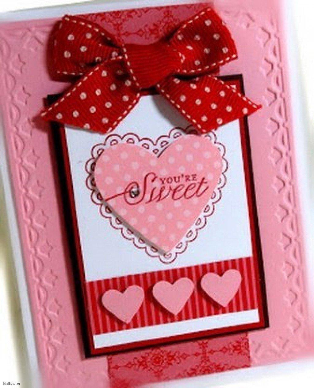 Сделать открытку валентина