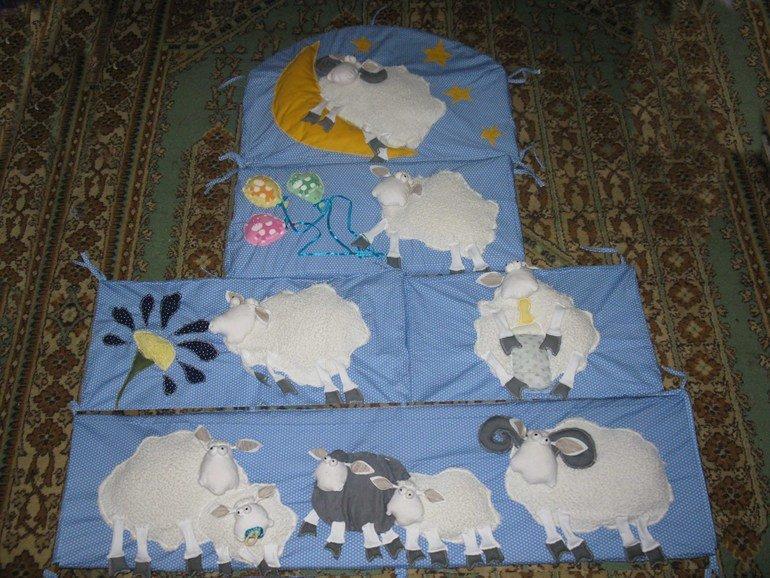 Защита в кроватку новорожденного своими руками
