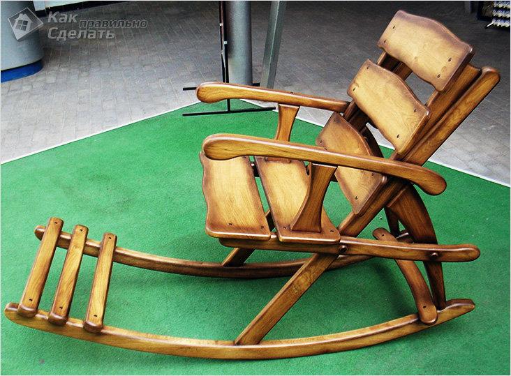 Как сделать кресло-качалка своими рукам 69