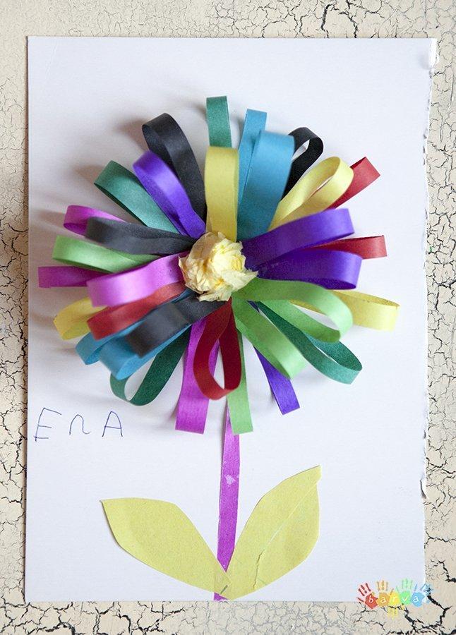 Как сделать 8 из цветной бумаги