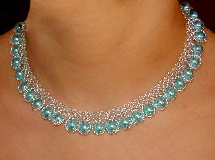 Ожерелье из бисера своими руками мастер 8