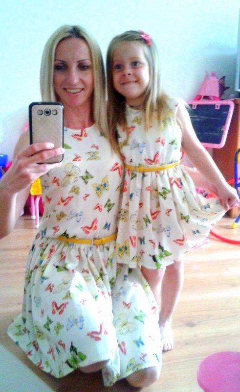 Платья для мамы и дочки сшить своими руками
