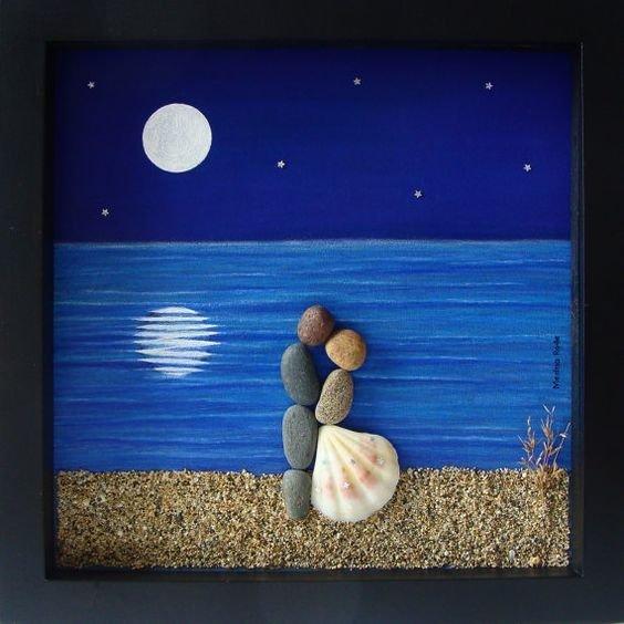 Панно из камней своими руками фото мастер