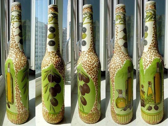 Бутылки красивые своими руками 87