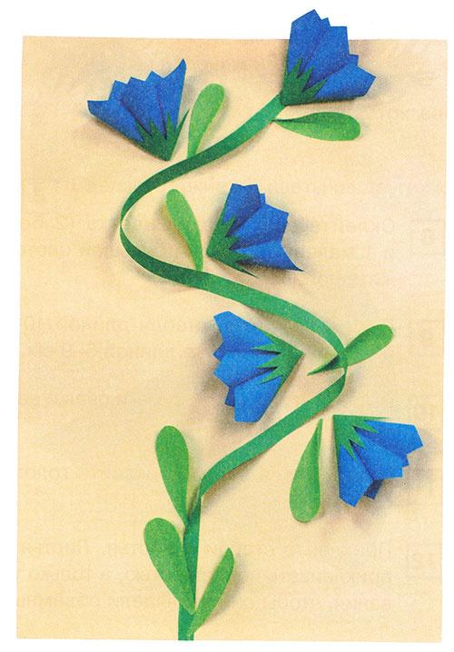 Объемные цветы для аппликации своими руками