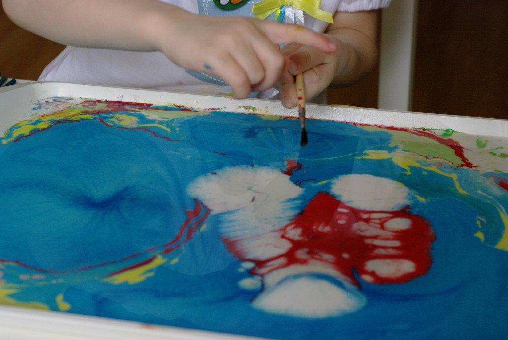 В домашних условиях рисование эбру для детей