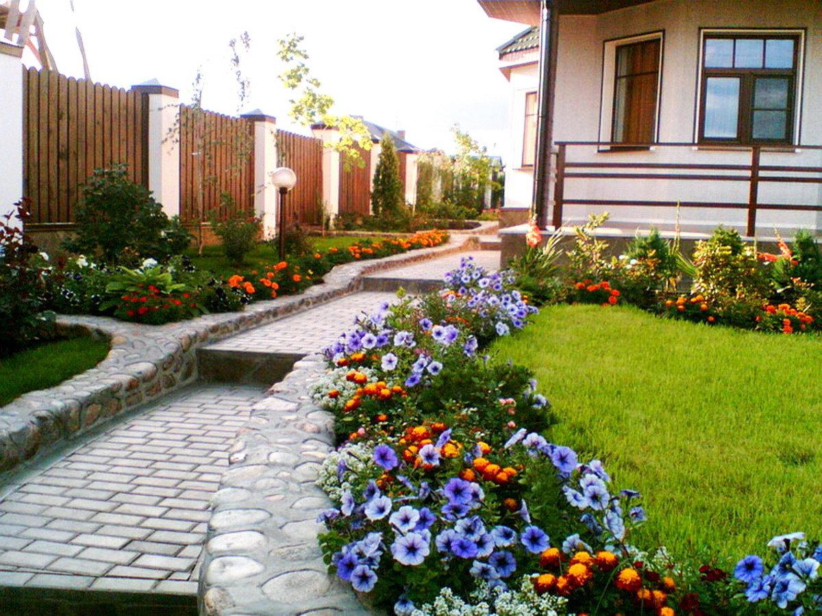 Рабатки клумбы и цветники на даче своими руками фото 848