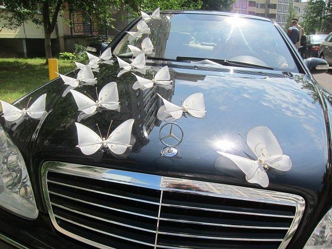 Свадебное украшение машин бабочками своими руками