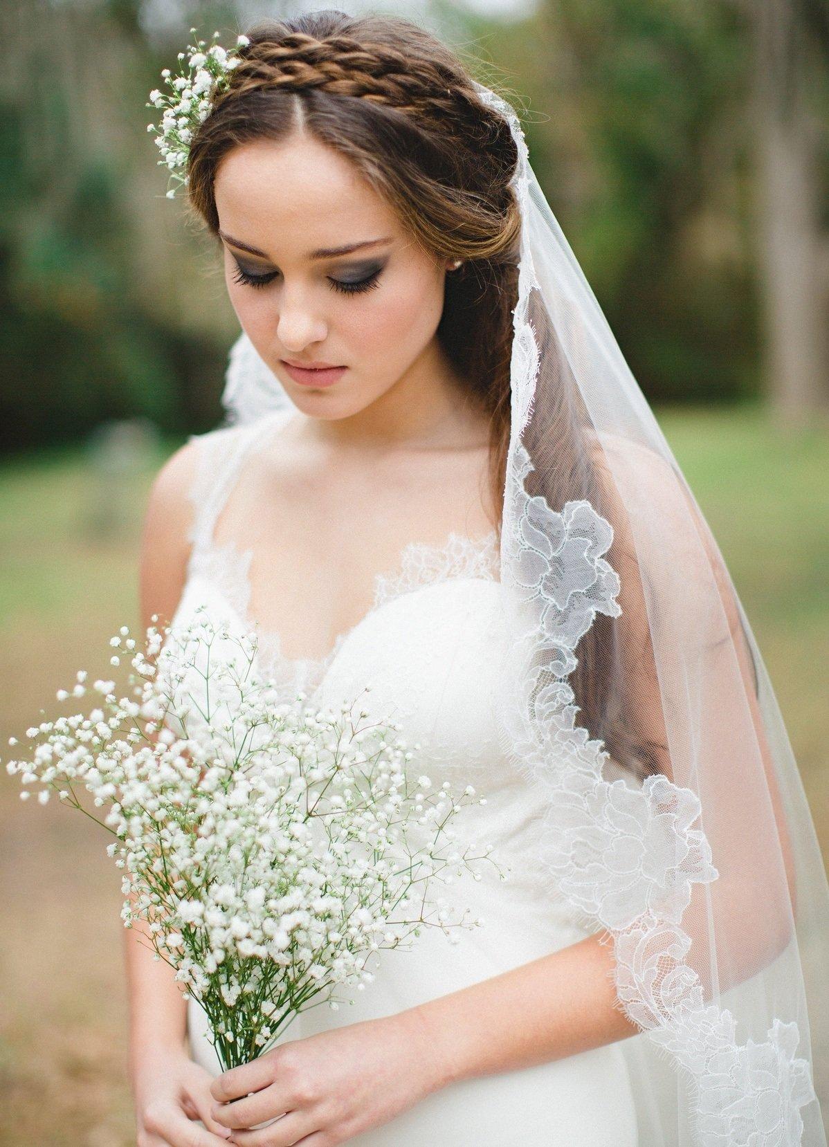 Прически на свадьбу для невесты с длинной фатой фото