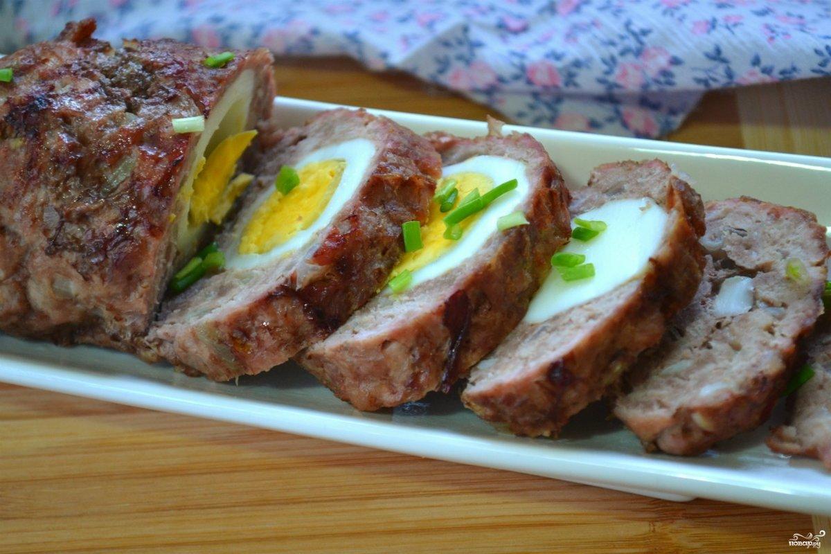 Рулет из фарша в духовке с яйцом и сыром рецепт в духовке