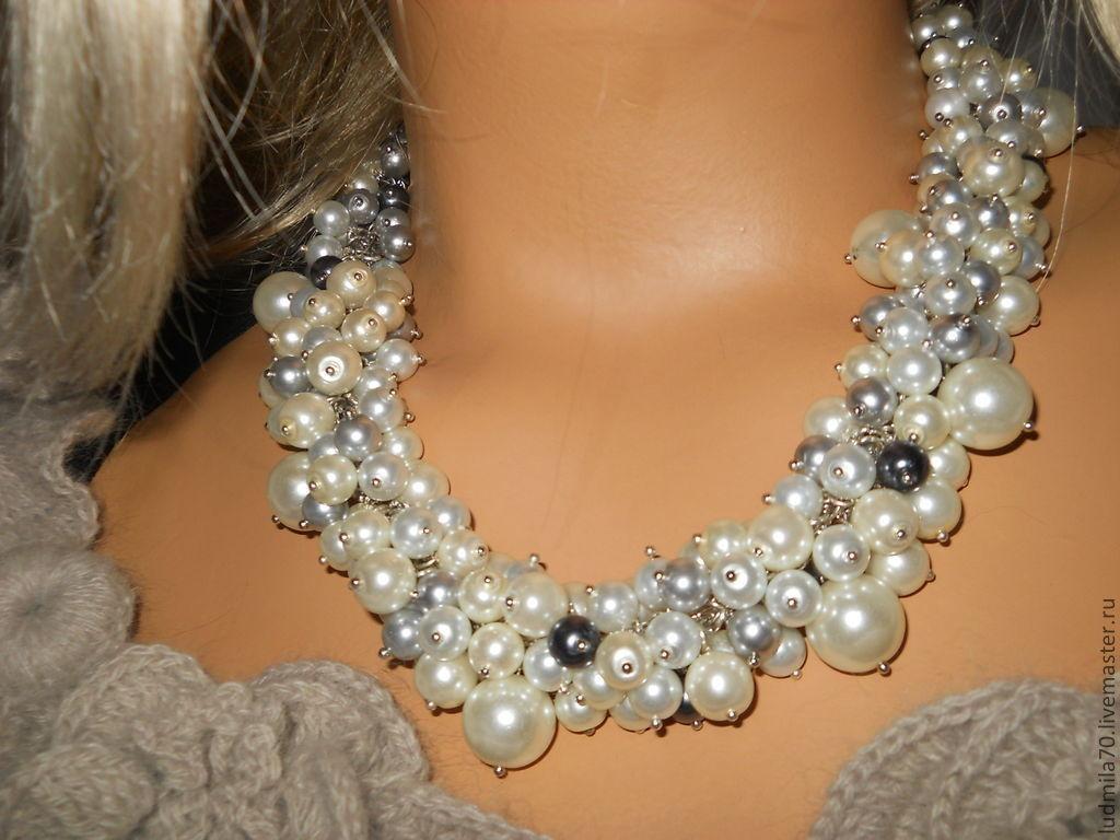 Ожерелье с бусинами своими руками фото 553