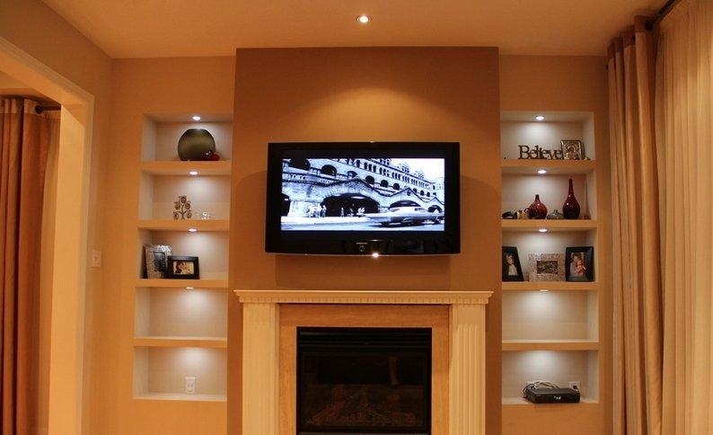 Как сделать нишу на стене под телевизор 134