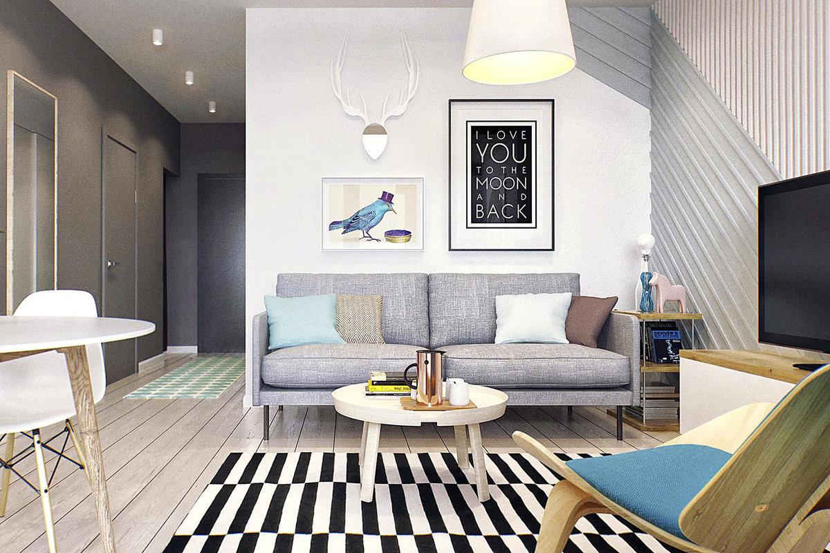 Фото дизайн квартиры 40 м2
