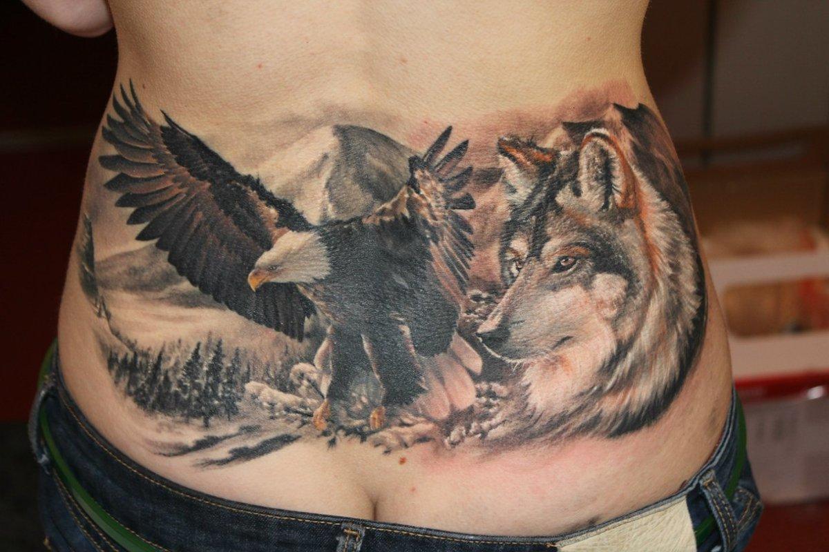 Татуировки с волком Искусство татуировки! Татуировки 99