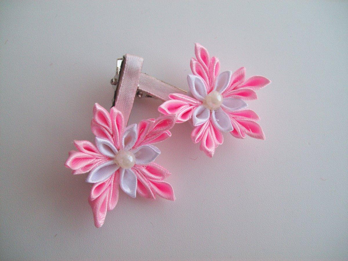 Фото цветов на заколки своими руками