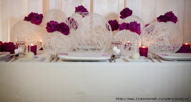 Свадебный декор для стола своими руками