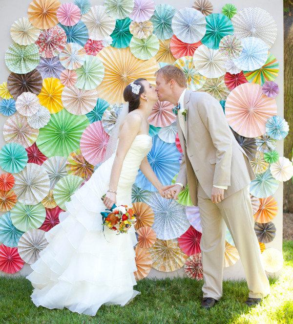 Бумажные веера для свадьбы своими руками 82