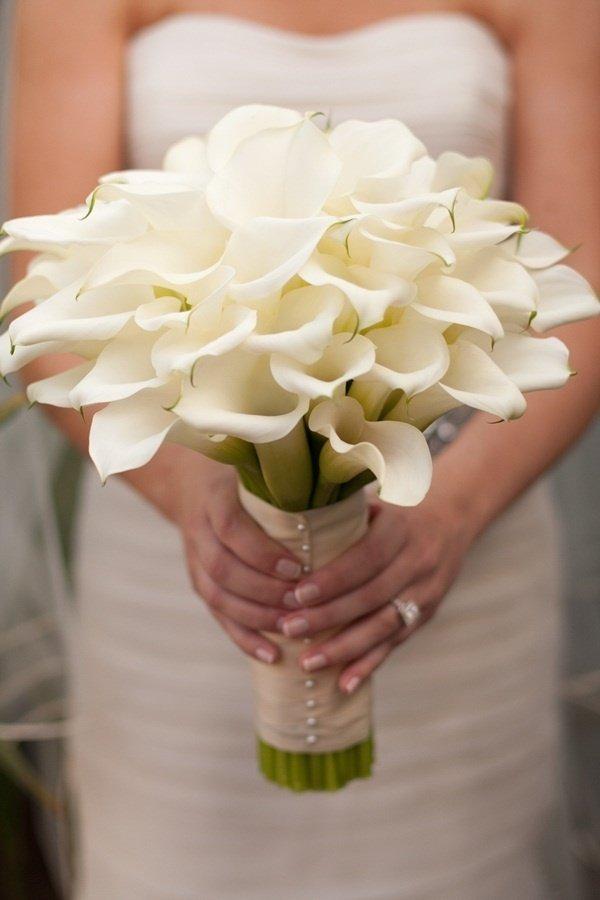Цветы на свадьбу из калл