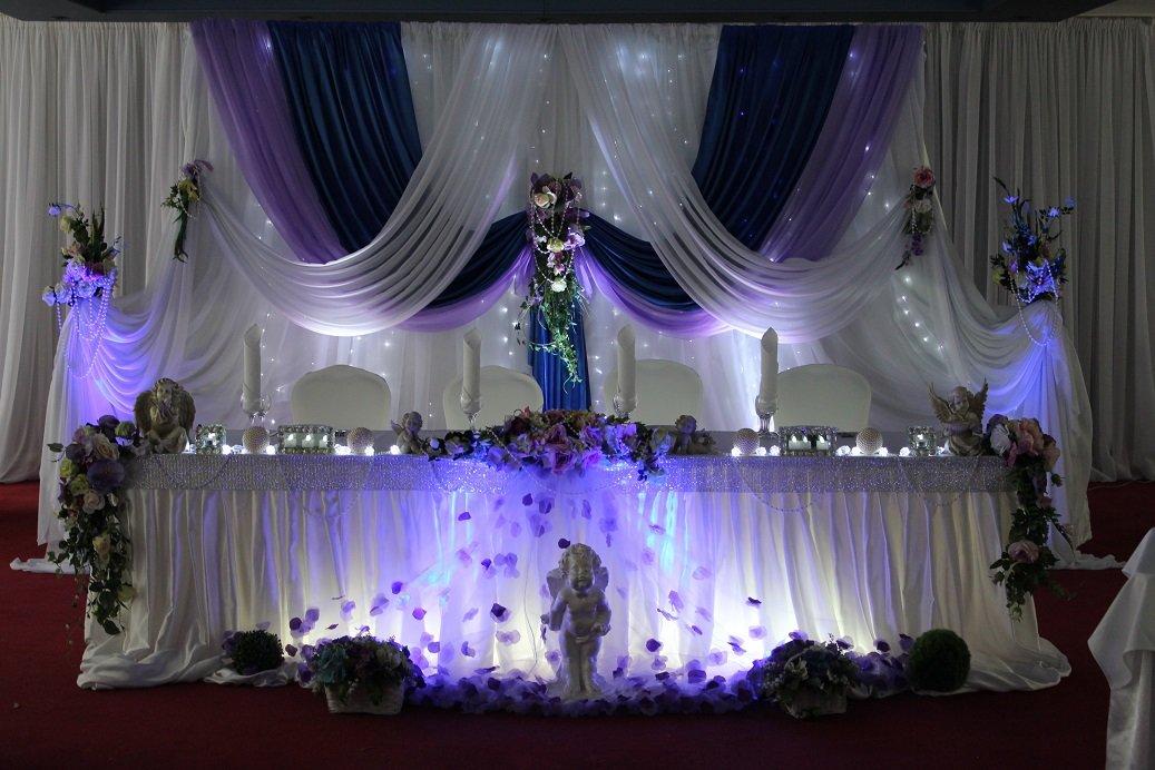 Дизайн оформления зала на свадьбу фото