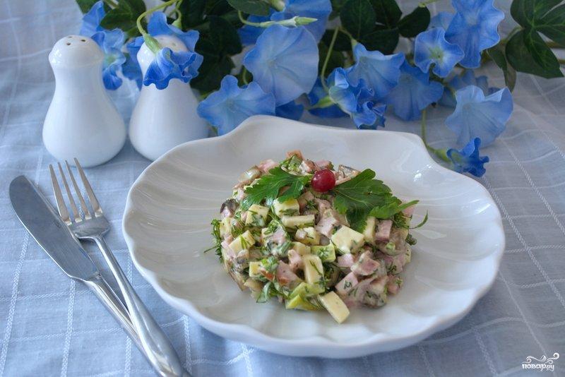 Салат удовольствие рецепт с
