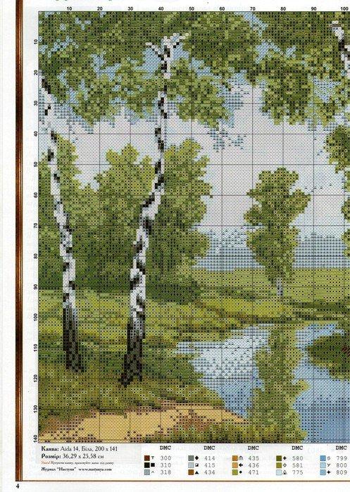 Схемы для вышивок крестом пейзажи 31