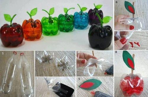 Украшение для дома своими руками из пластиковых бутылок своими руками