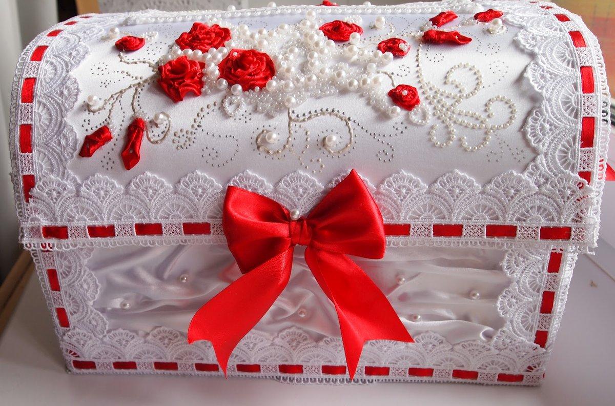 Сундук для денег на свадьбу своими руками красно белые