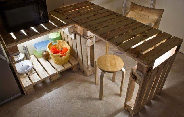 Кухня на даче своими руками из подручных материалов 63