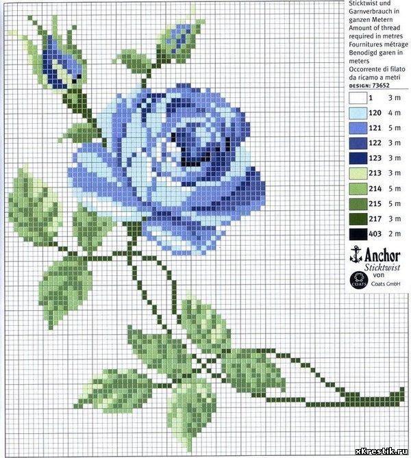 Схемы вышивок цветов