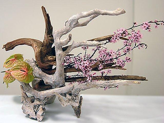 Икебана своими руками из природного