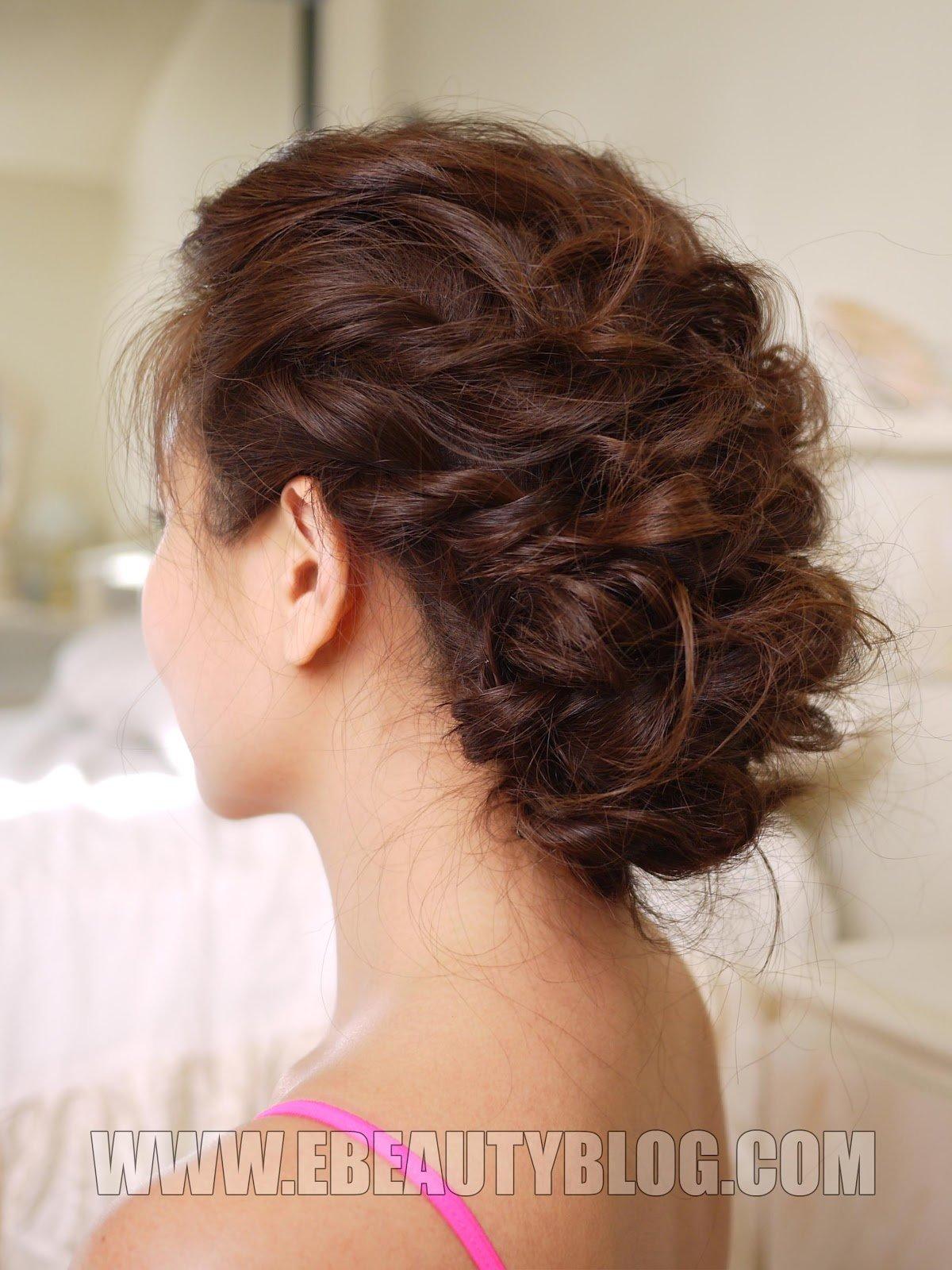 Из завитых волос прически фото