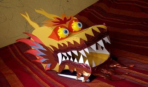 Как сделать маску дракона из бумаги своими руками 68