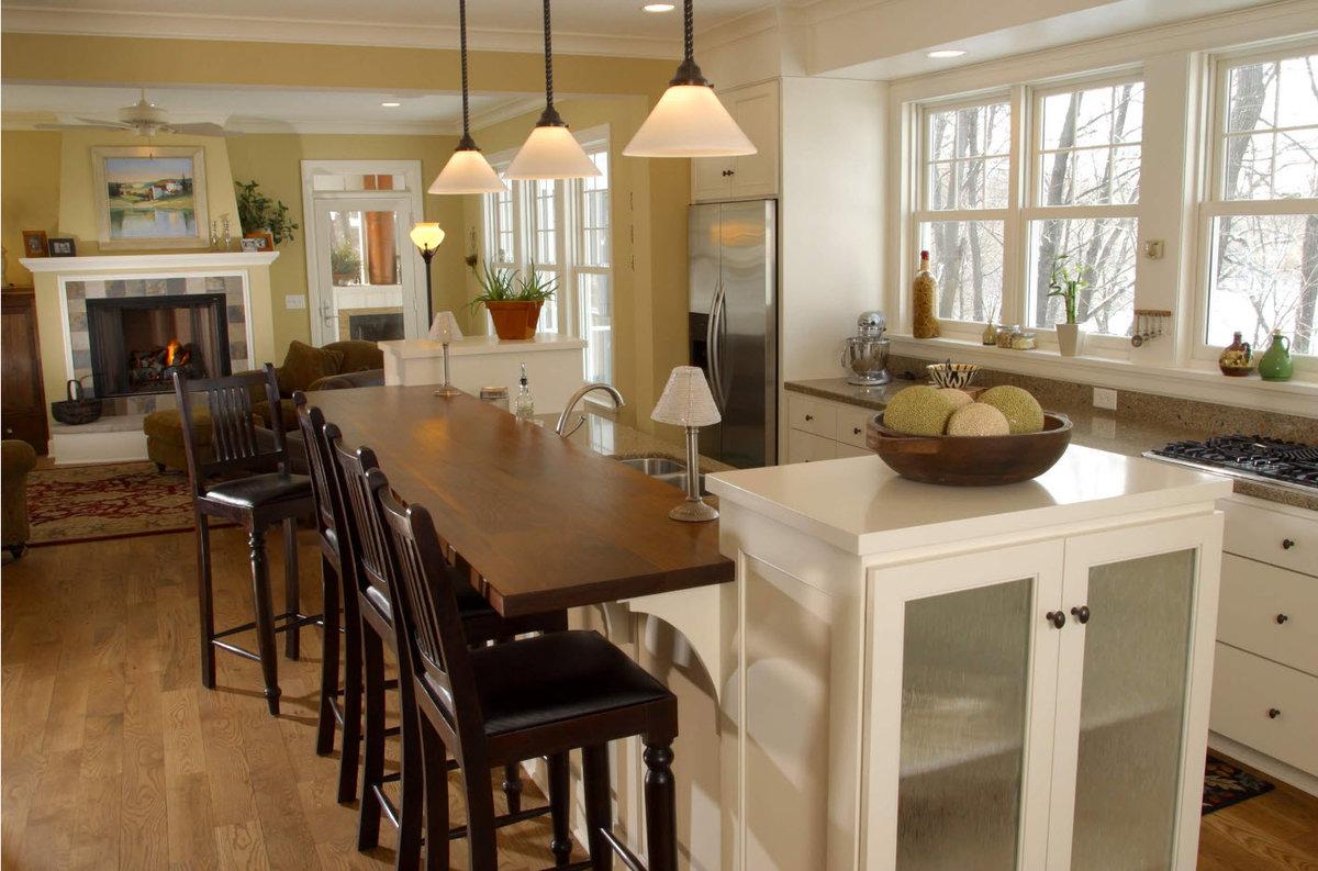 Дизайн кухни столовой своими руками