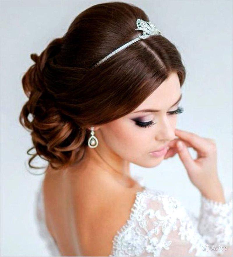 Фото прически невесты на длинные волосы