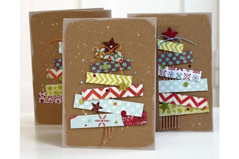 Новогодние семейные открытки своими руками
