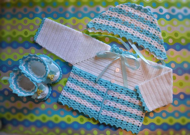 Вязание крючком на мальчика новорожденного 293