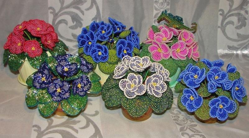 Фото цветочки из бисера
