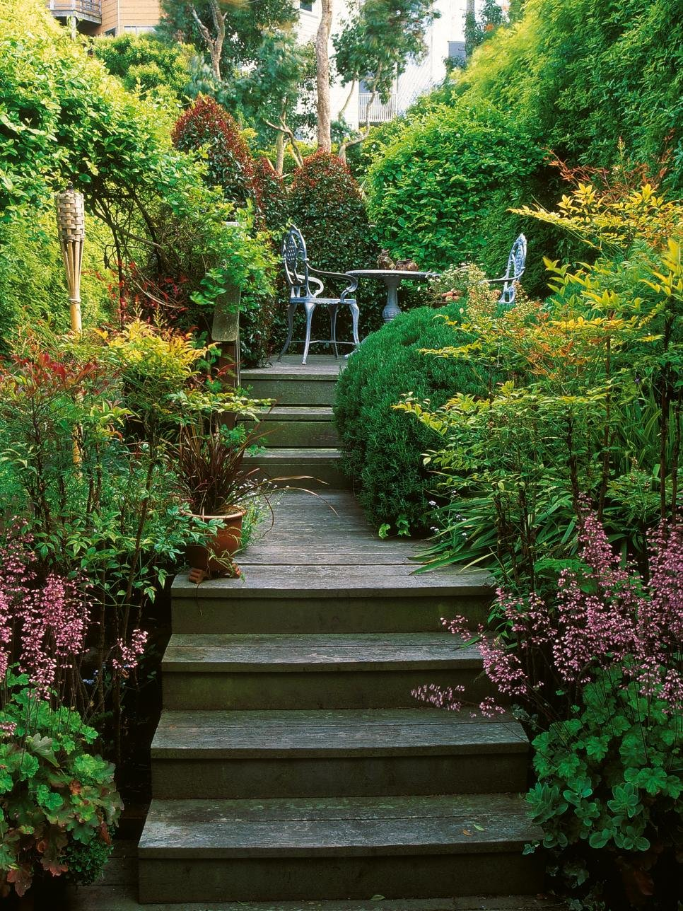 Ландшафтная лестница своими руками